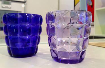 Bicchieri Diamante Blu e Lilla