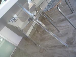 tavolo Plexiglass - Dettaglio